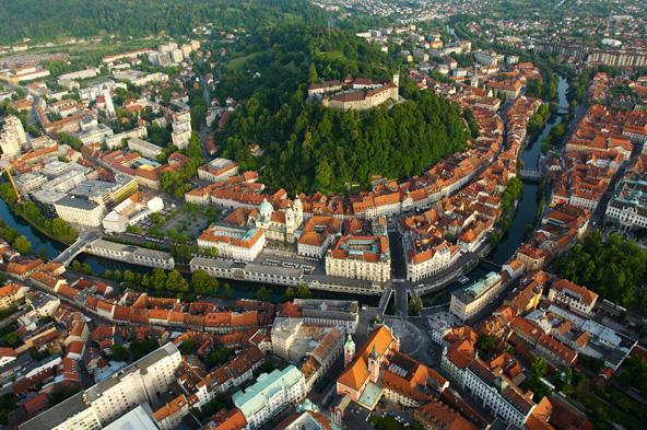 Ljubljana, aerial view